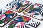 Geometric Aviary Set of 4 Coasters