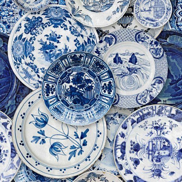 Delftware Blue Wallpaper