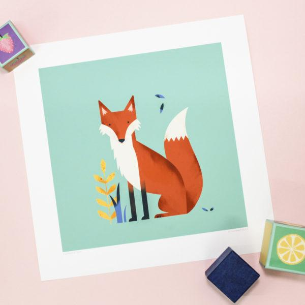 Fox Children's Art Print