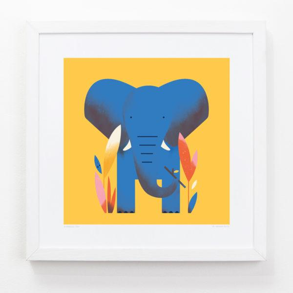 Elephant Children's Art Print