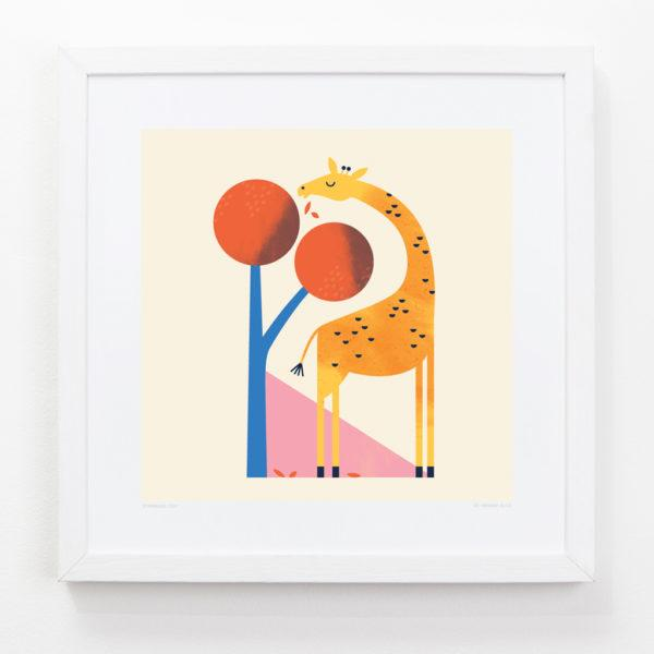 Giraffe Children's Art Print