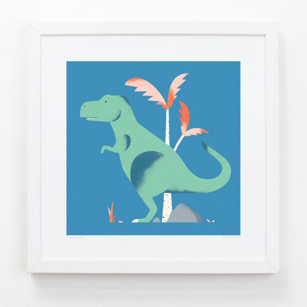 T-Rex Dino Children's Art Print