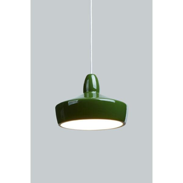 Full Spun Green Ceramic Pendant Light