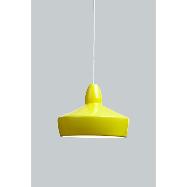 Full Spun Yellow Ceramic Pendant Light