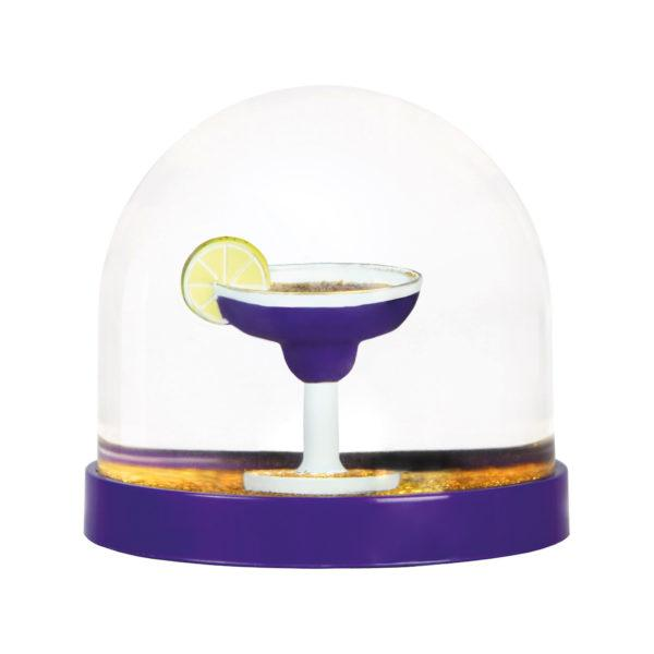 Wonderball Cocktail Purple Snow Globe