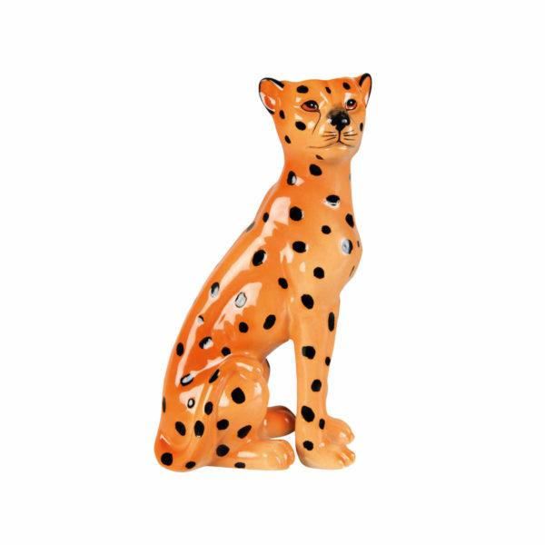 Leopard Candle Holder - Left