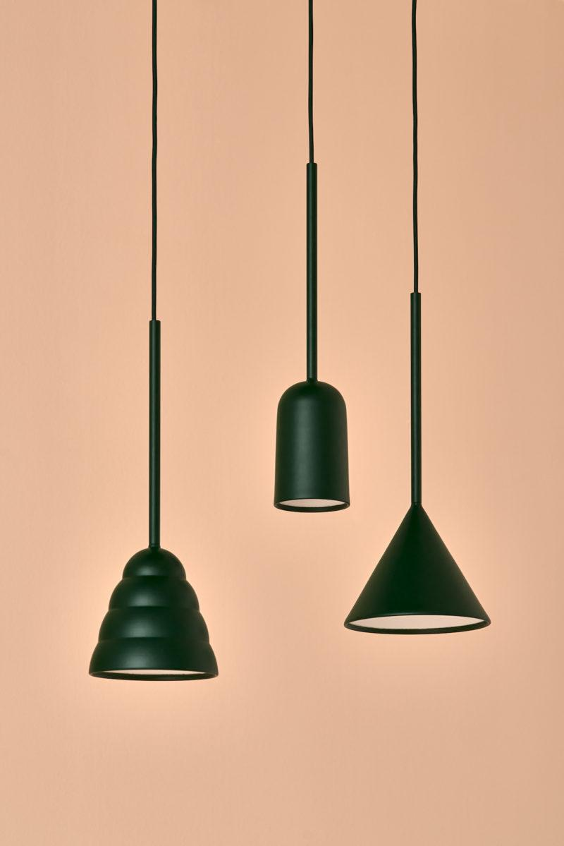 Figura Cone Pendant Light - Forest Green
