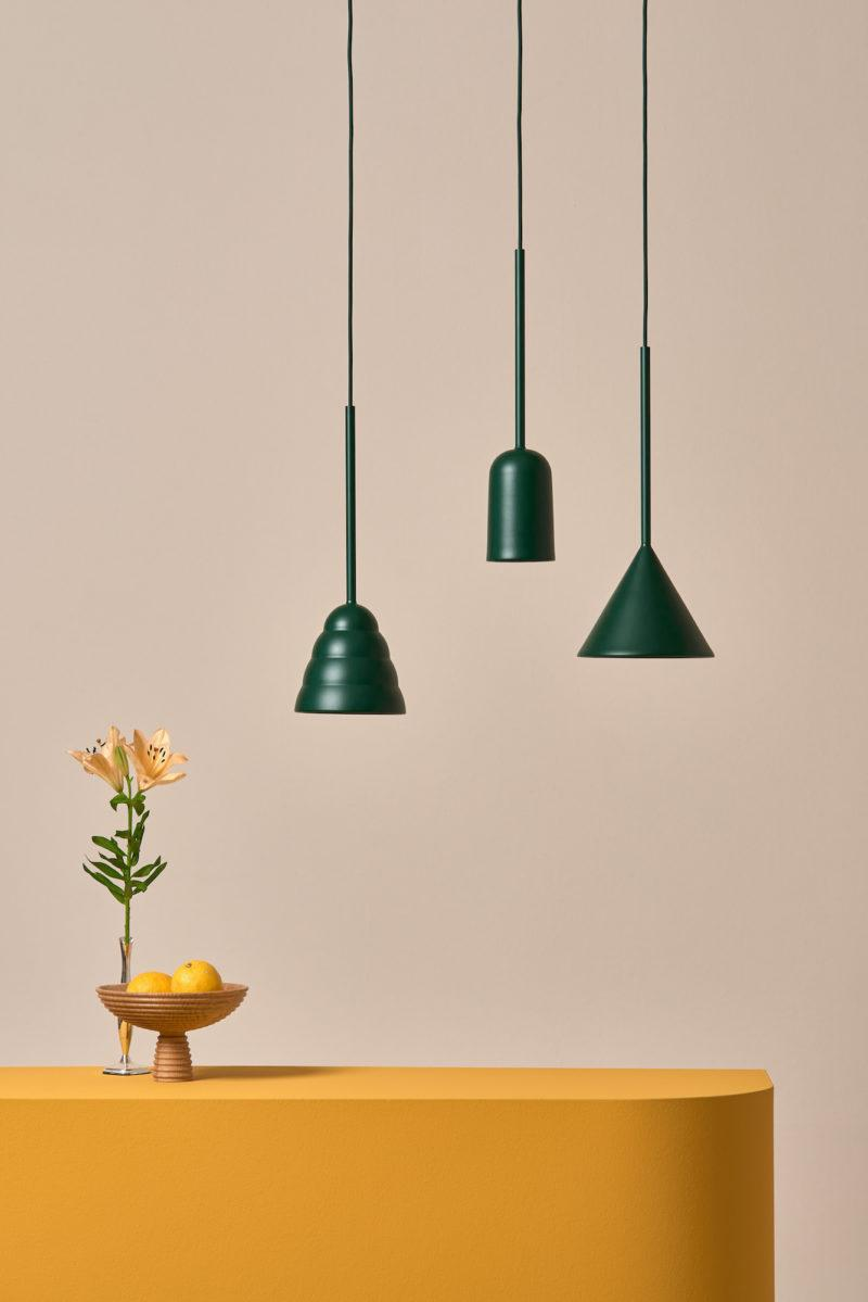 Figura Stream Pendant Light - Forest Green