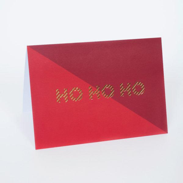 Ho Ho Ho Divide Christmas Card
