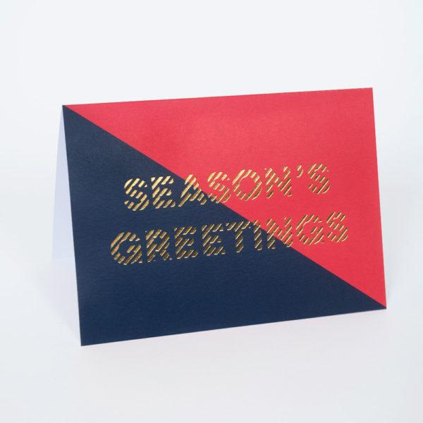 Seasons Greetings Divide Christmas Card