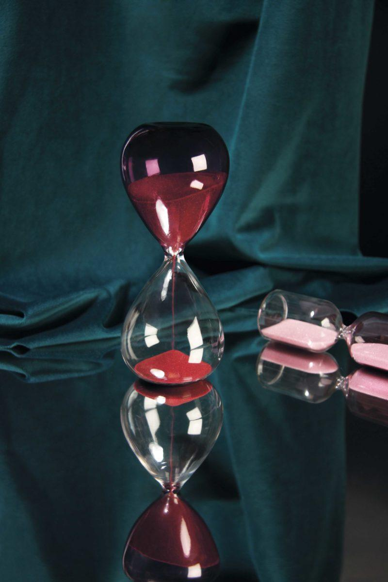 Pink Cylinder Hourglass
