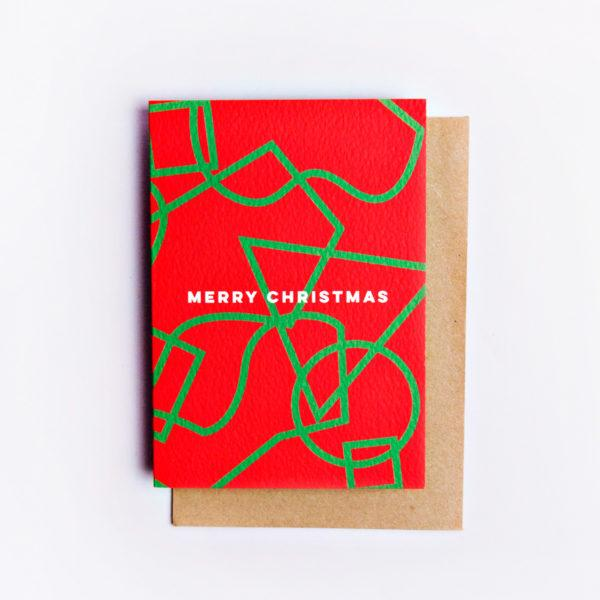 Graphic Shapes Christmas Card