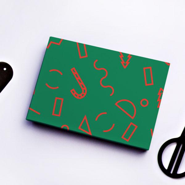 Christmas Memphis Shapes Gift Wrap Sheet