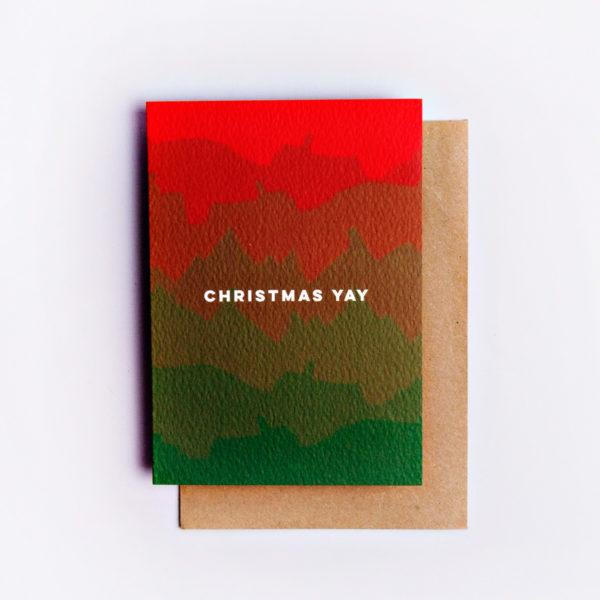 Yay Ombre Christmas Card