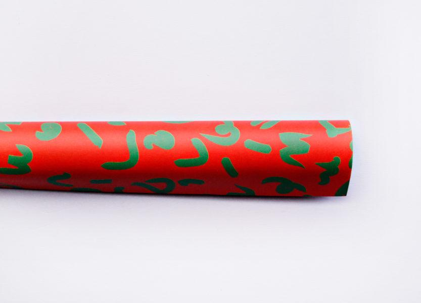 Christmas Squiggle Gift Wrap Sheet