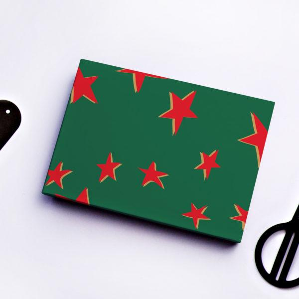 Christmas Stars Gift Wrap Sheet