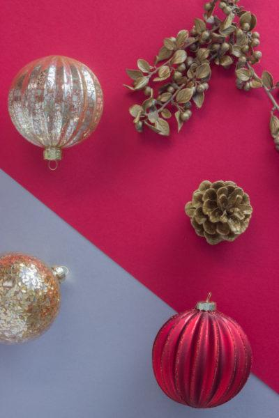 Red Glitter Glass Bauble