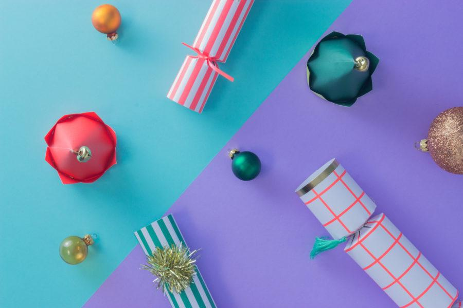 Stripy Pom Pom Christmas Crackers