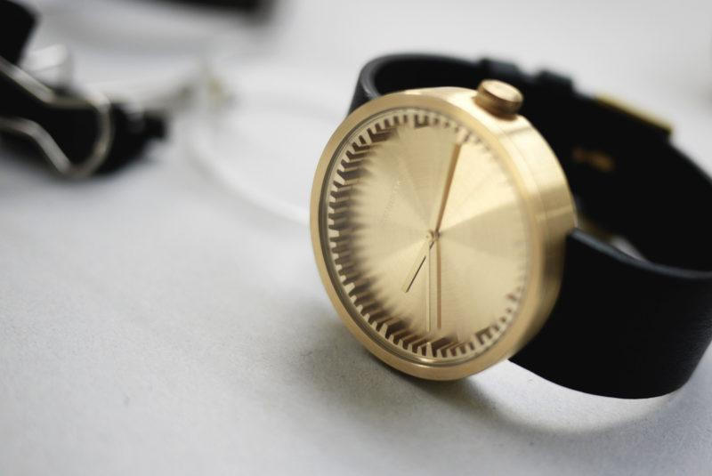 Tube Watch Brass/Black