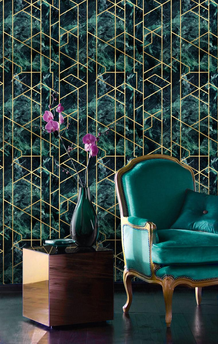 Gramercy Emerald Wallpaper