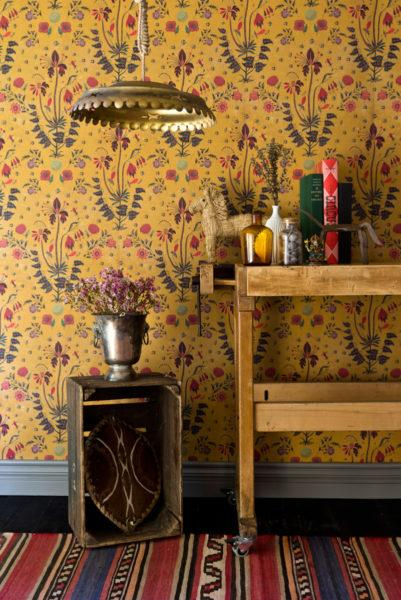 Gypsy Anthracite Wallpaper