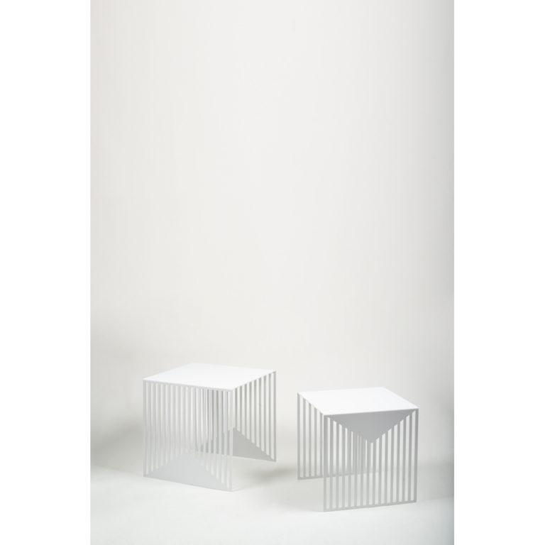Zick Zack Table White – Set of 2