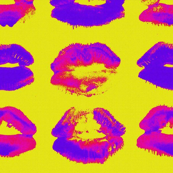 Kiss my Ass Indigo Wallpaper