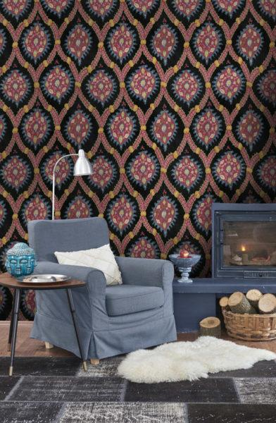 Ottoman Anthracite Wallpaper
