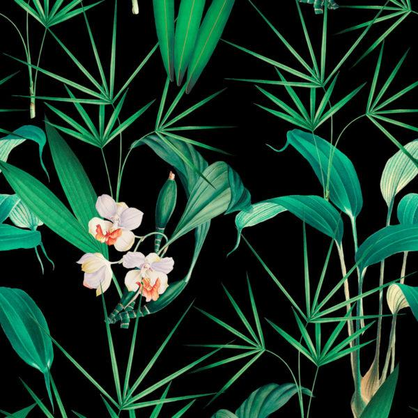 Palm Springs Anthracite Wallpaper