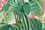 Tropical Foliage Anthracite Wallpaper