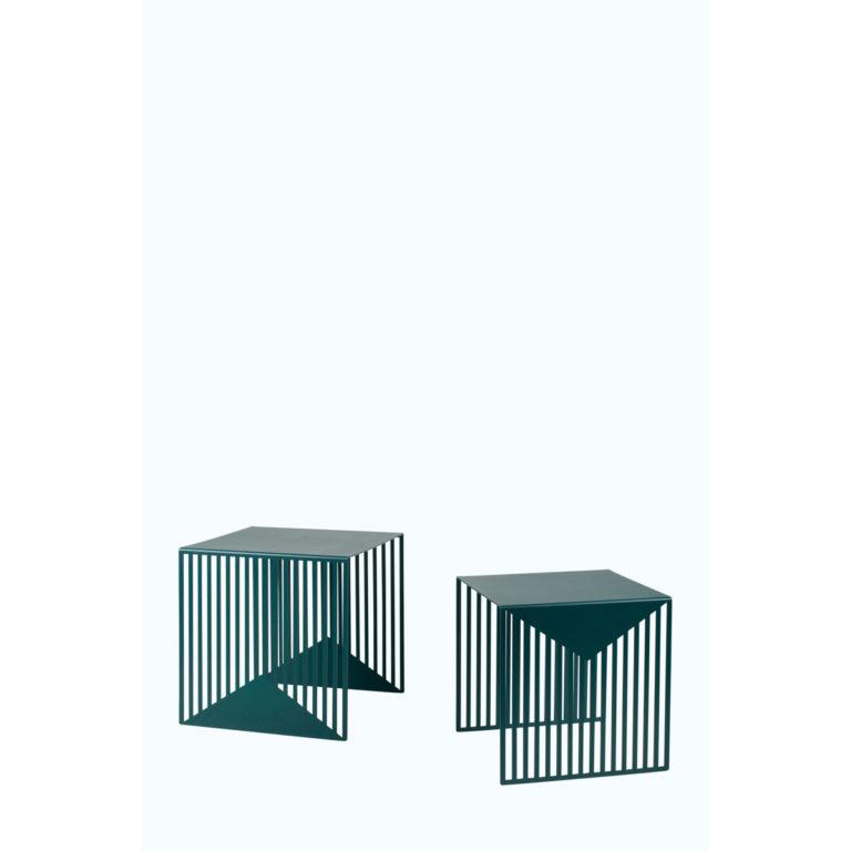 Zick Zack Table Green – Set of 2