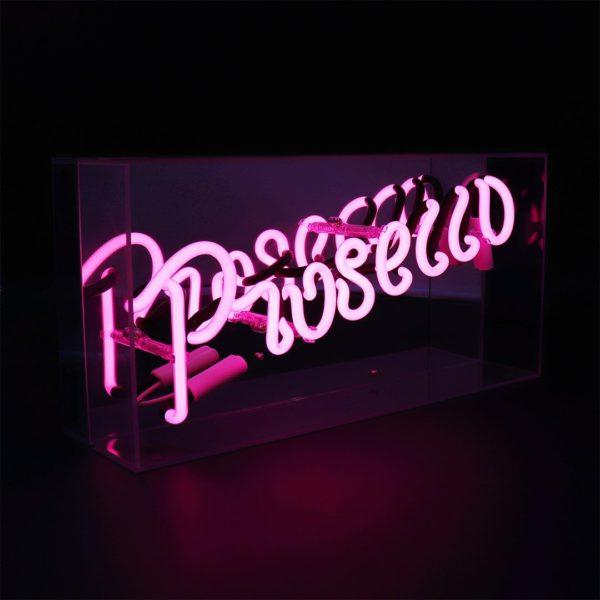 Prosecco Acrylic Neon Light Box
