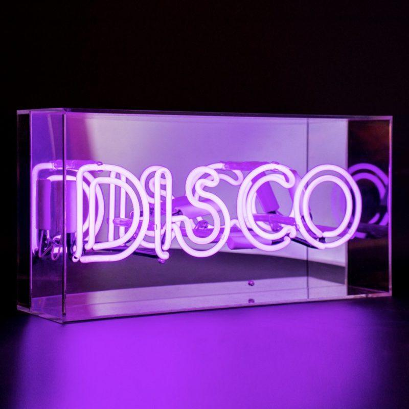 Disco Acrylic Neon Light Box - Purple