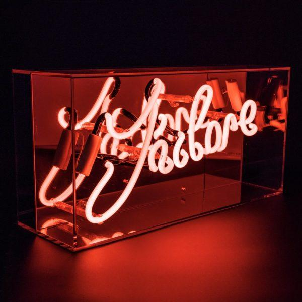 J'Adore Acrylic Neon Light Box