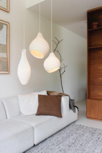 Drop Scraplights Recycled Pendant Light - White