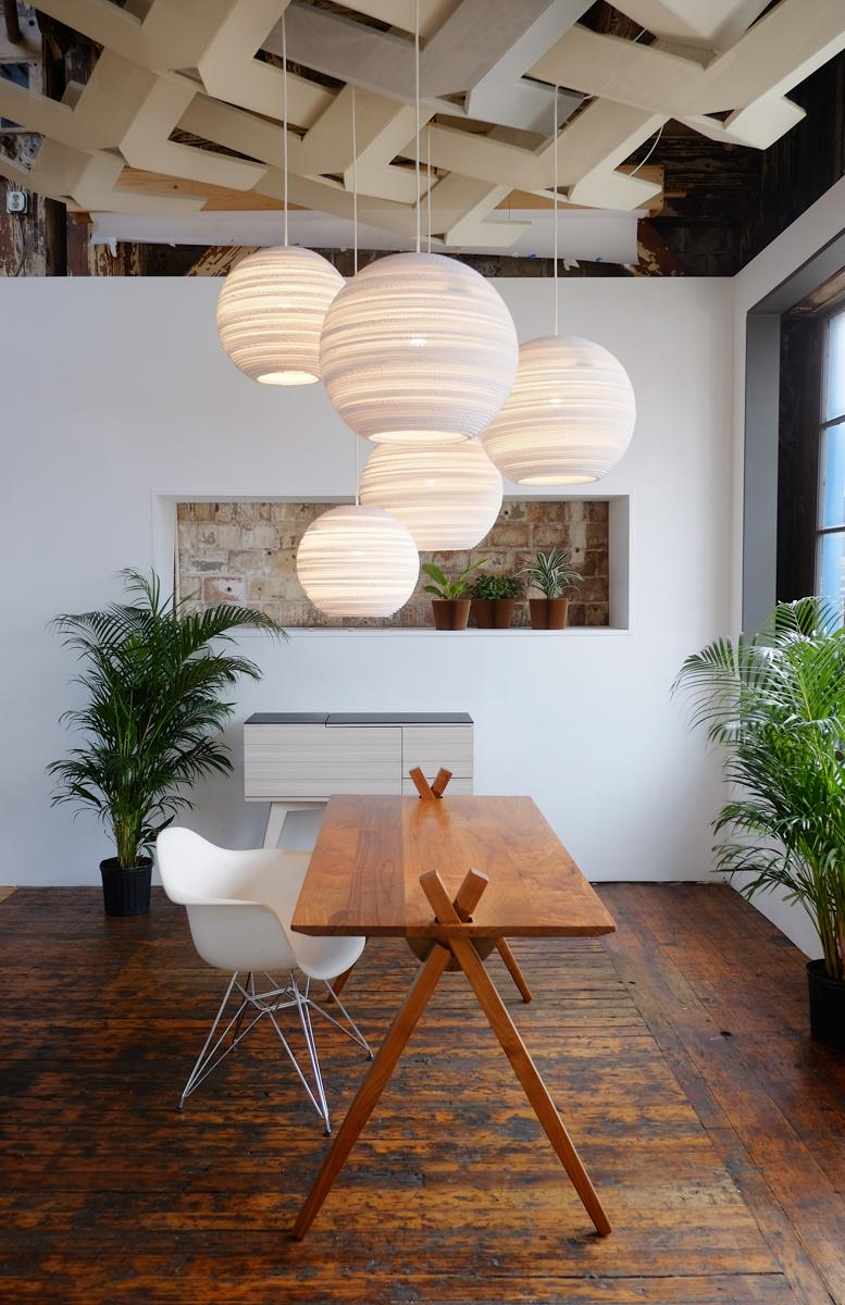 Disc Scraplights Recycled Pendant Light - Natural White
