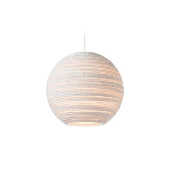 Moon Scraplights Recycled Pendant Light - White