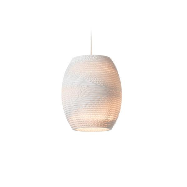 Oliv Scraplights Recycled Pendant Light - White