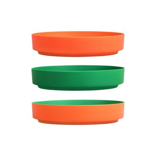 2 Tone Orange & Green Porcelain Tray