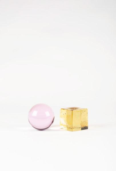 OH MY Mini Glass Sculpture - Pink/Yellow