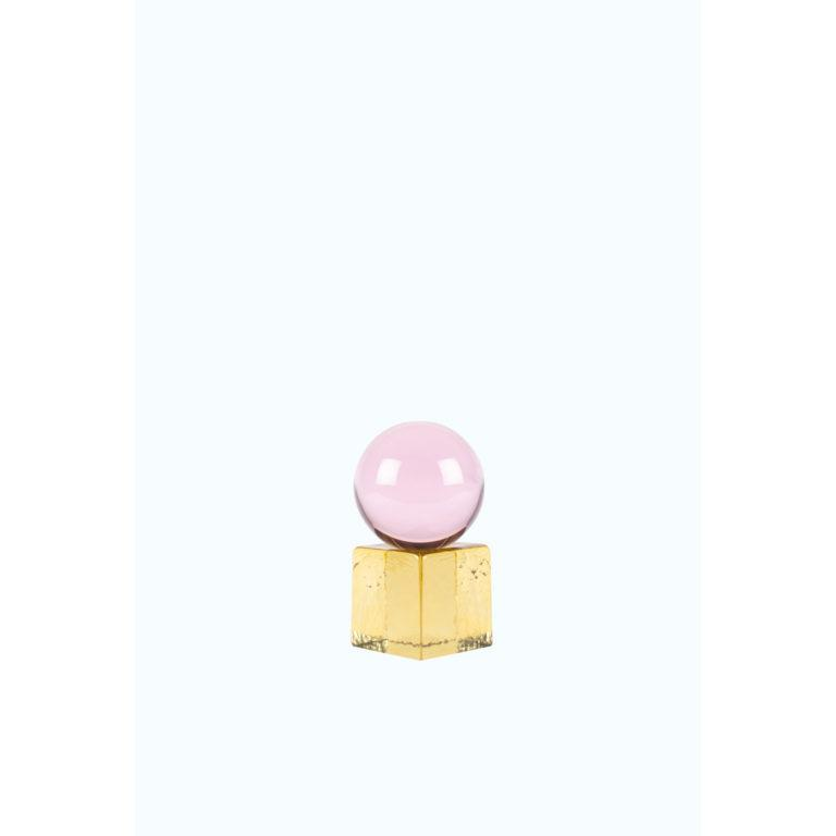 OH MY Mini Glass Sculpture – Pink/Yellow