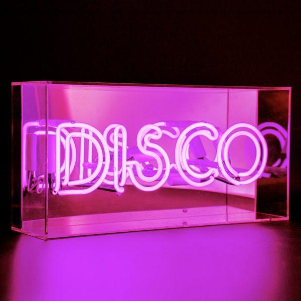 Disco Acrylic Neon Light Box - Pink