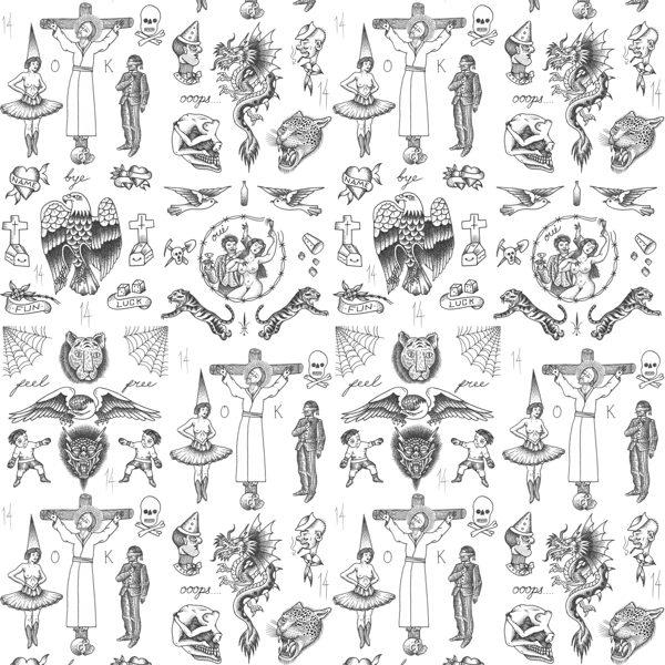 Tattoo Flash 01 Wallpaper by Liam Sparkes