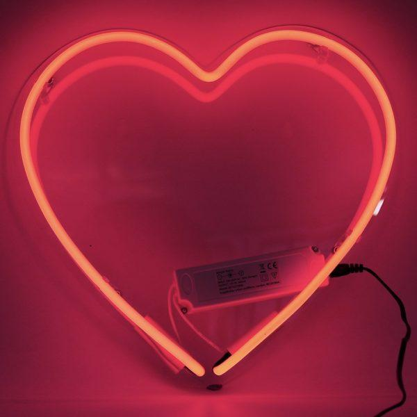 Pink Neon Lips Wall Sign