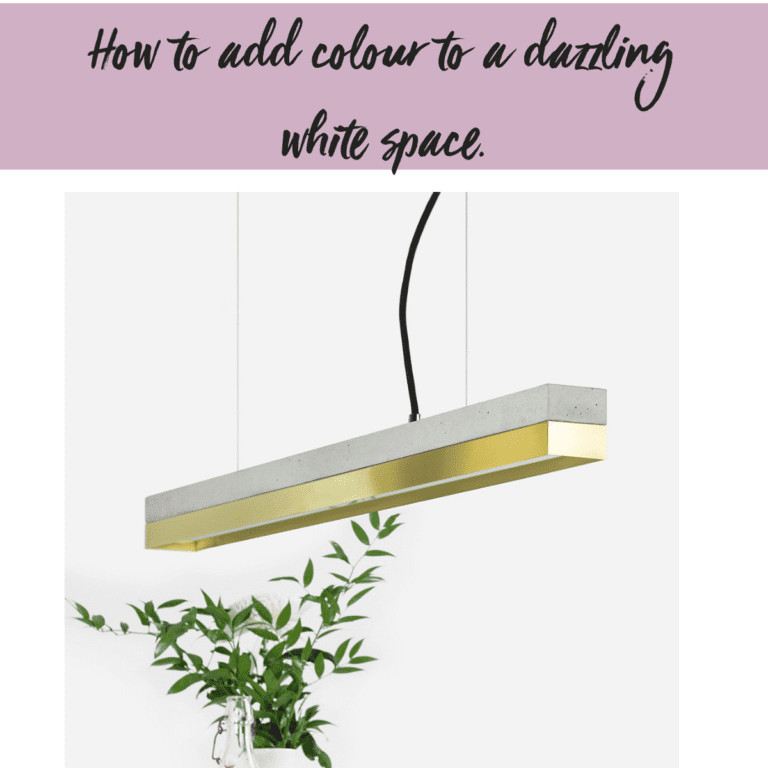Our guide to introducing colour into a dazzling white space.