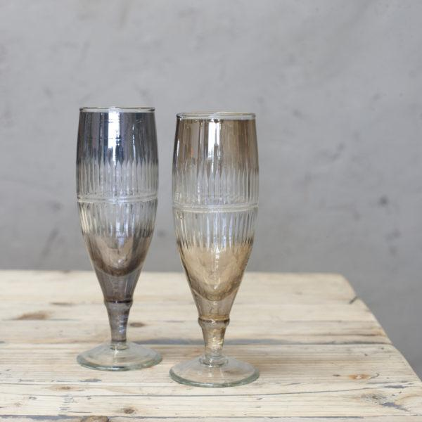 Abeeko Recycled Glass Champagne Glass