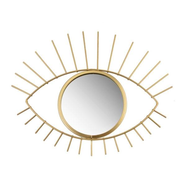 Gold Tribal Eye Wall Mirror