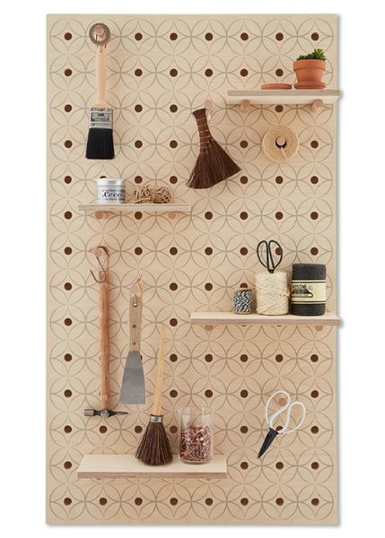 Peg-it-all Large Floral Pegboard with Pegs & Shelves