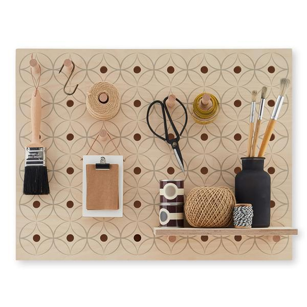 Peg-it-all Little Pegboard Floral with Pegs & Shelves