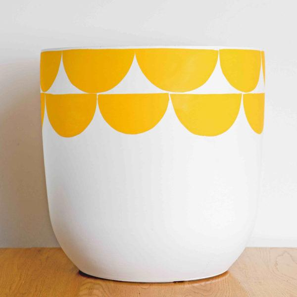 Sunny Painted Planter by Pow Pots